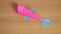【好奇课堂】新技能速成班·巧用彩纸打造奔跑的皮皮鱼