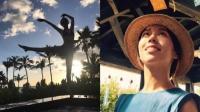 [娱乐]伴娘夏于乔比安以轩还兴奋! 穿比基尼迎着夕阳跳芭蕾性感若隐若现
