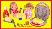 米露宝宝做薄饼玩具拆箱 亲子手工小厨师游戏视频 251