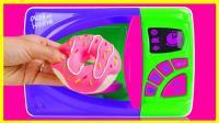 微波炉甜甜圈亲子手工 彩泥美食玩具 254