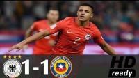 [全场集锦]桑切斯破门加冕射手王比达尔助攻 德国1-1智利
