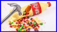 白巧克力彩虹糖可乐瓶子制作 263