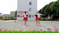 华美舞动广场舞《社员都是向阳花》原创双人舞含教学