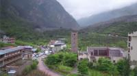 四川茂县发生山体高位垮塌 现场航拍画面《2》