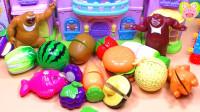 熊大熊二的水果切切乐水果忍者玩具 熊出没猫和老鼠超级飞侠小猪佩奇奥特曼