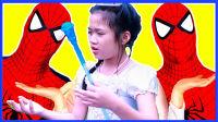 蜘蛛侠与艾莎公主玩旋转木马 312