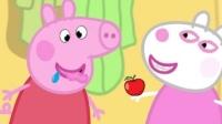 小猪佩奇嘴馋很贪吃 粉红猪小妹爱吃美食