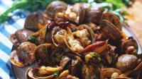 辣炒黄蚬子海鲜大排档里的诱人美味 美食短片味蕾时光