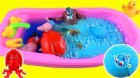 小猪佩奇洗澡玩具 芭比娃娃海绵宝宝小伶玩具