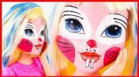 芭比公主给小猫咪凯蒂猫化妆 327