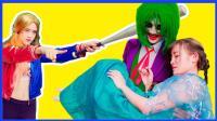 艾莎公主整人恶搞视频真人秀 超级英雄蜘蛛侠与蝙蝠侠都中招啦 卡通动画 汪汪队立大功