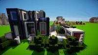 miencraft个人创意建筑一栋现代别墅