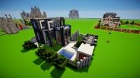 新手如何在minecraft中建造一棟現代別墅