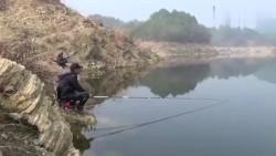 钓鱼:水库野钓,大鲫鱼总是在不经意间就来了!