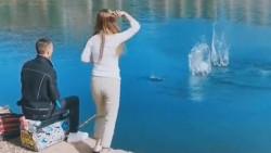 老公在水库钓鱼又被抓了,妻子这次不折鱼竿,做这个行动或许是失望了吧!