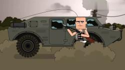 痴鸡小队:装甲车似乎与洒家格外相配啊!效果是钓……钓鱼!