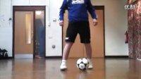 【偶偶足球装备网-足球教学】后跟转脚趾假动作教学