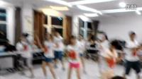 都匀市文峰街道办事处2014年实习学生中秋表演节目(小苹果)