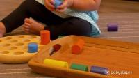 教孩子玩圆柱组合玩具 202
