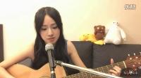 美女吉他弹唱《忽然之间》