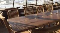 原木生活木工坊我们自已作的大会议桌