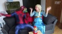 蜘蛛侠&艾莎公主妈的恶作剧 ! 一个超级英雄在现实生活中_标清