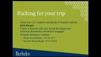 EAP: Preparing for Your Study Abroad at UC Berkeley (2016)