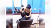 美女理发师清纯又性感 男生排长龙理发