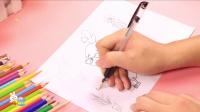 儿童简笔画教程四眼天鸡 53
