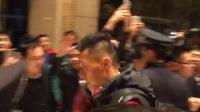 中国足球球队凯旋而归离开长沙视频于大宝