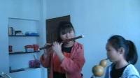 关立陈  关然然 葫芦丝 笛子合奏 塔塔尔族舞曲 练习2017年4月29