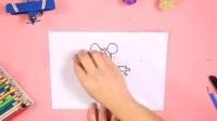迪士尼米奇简笔画教学儿童手工DIY 89