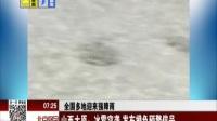 全国多地迎来强降雨:山西太原——冰雹突袭  发布橙色预警信号 北京您早 170623