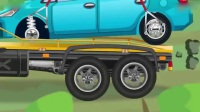 汽车总动员红色拖车帮助蓝色小汽车 托马斯和他的车车朋友们 玩具