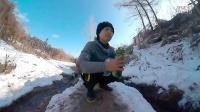 冬天騎自行車去山腳下打水(天然山泉水)