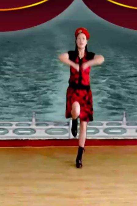 山歌牵出月亮来 水兵舞附加分解演示 幸福玫瑰广场舞