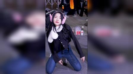 可爱舞蹈街拍'K P直接凸轮@ Hongdae *usking由Daf