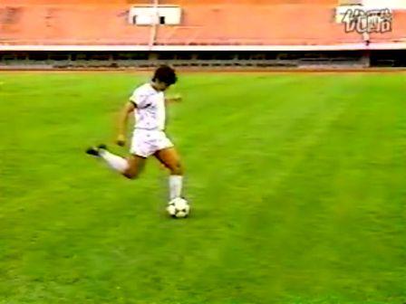 基础足球技术 脚背正面踢球