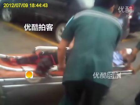 [拍客]90后实习警校生救卧轨自杀者 双腿被轧断截肢