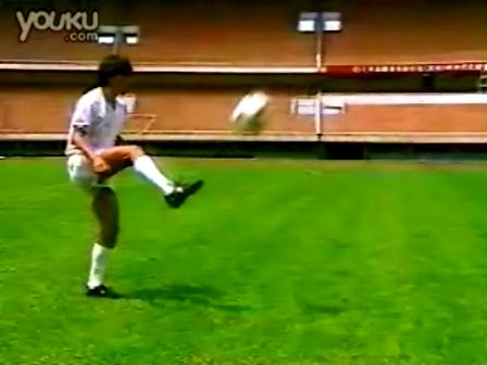 基础足球技术 脚背正面停球