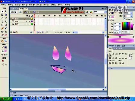 flash路上动画实例-花瓣雨
